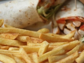 2-4-1 Wrap & Side of Chips to Share $9!, Castle Cove Golf Club, Think Local Deals