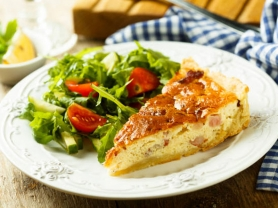 2-4-1 Quiche, Salad & Coffee Only $20.90, Garden Terrace Cafe, Think Local Deal